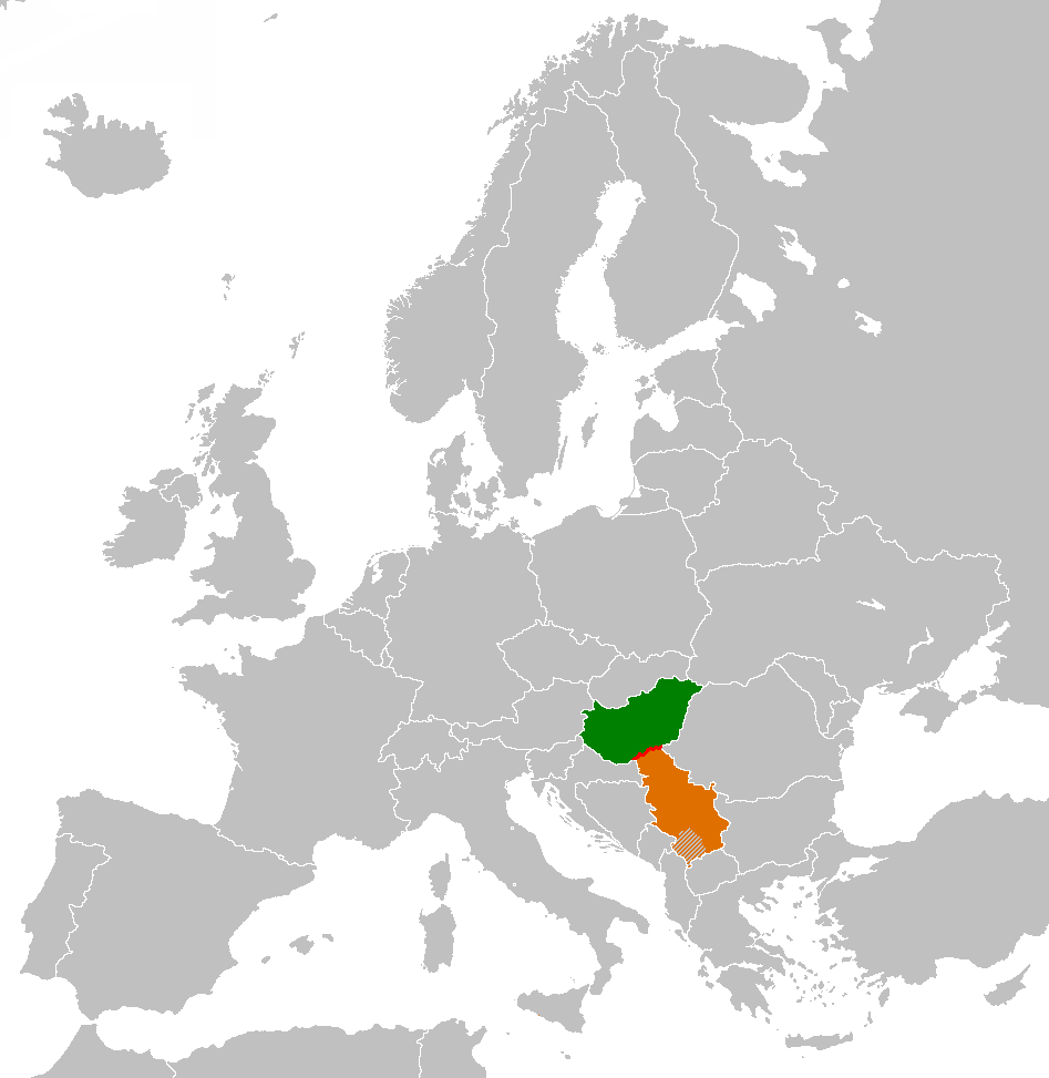Hungary Serbia Locator Border